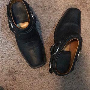 Frye mule boots